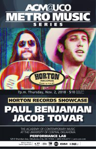 concert poster depicting Paul Benjaman and Jacob Tovar