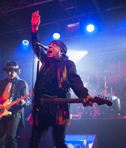 Steven Van Zandt plays guitar and sings during a concert