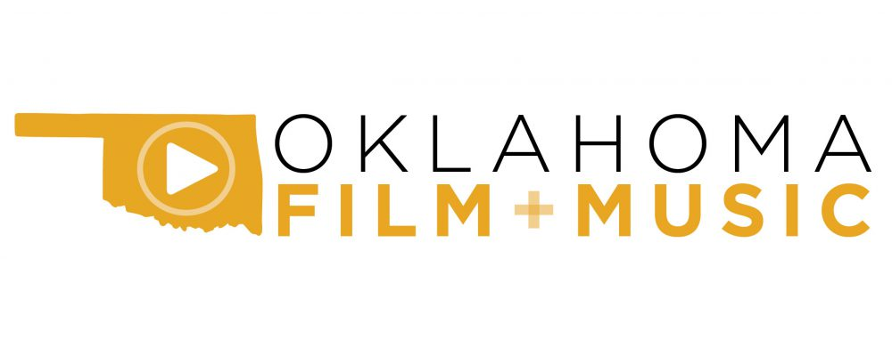 Oklahoma Film and Music Office official graphical logo in black and yellow.