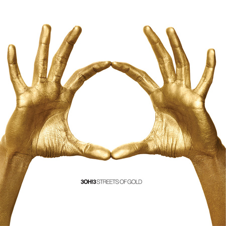 a pair of gold hands forming a circle with the index fingers and thumbs