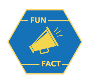 "icon with a megaphone and the words ""fun fact"""