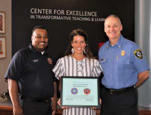 Franz receives award from OKC Fire Department