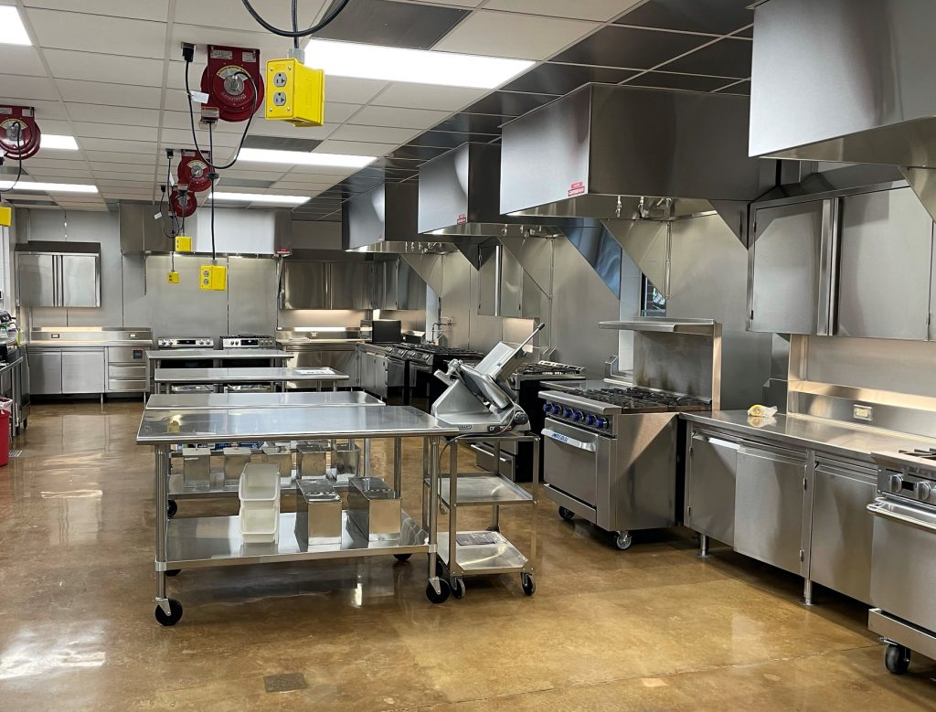 Newly completed food science kitchen space.