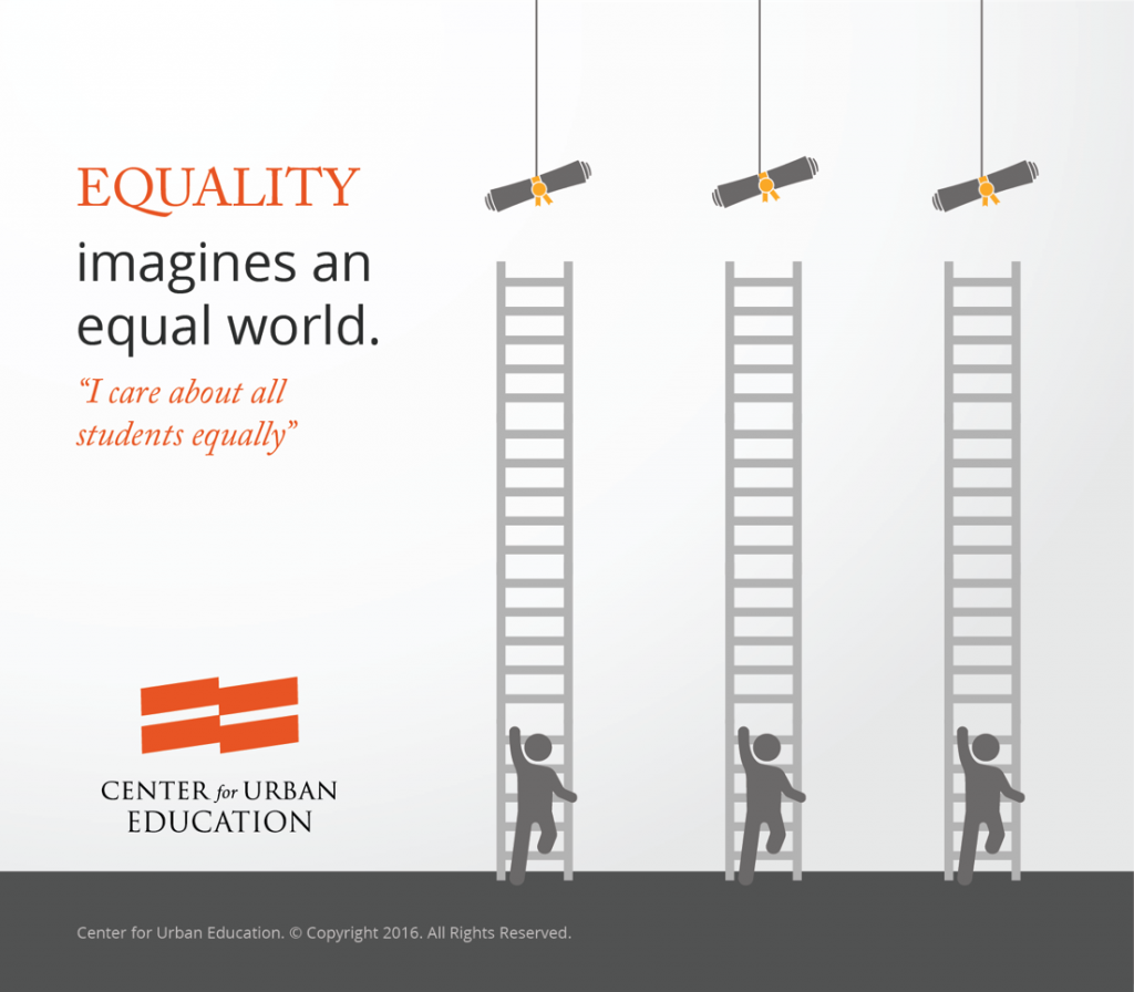 Imagine an equal world in which we attempt to treat all people equally.
