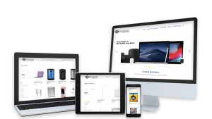 Devices displaying the Central Tech Store new website