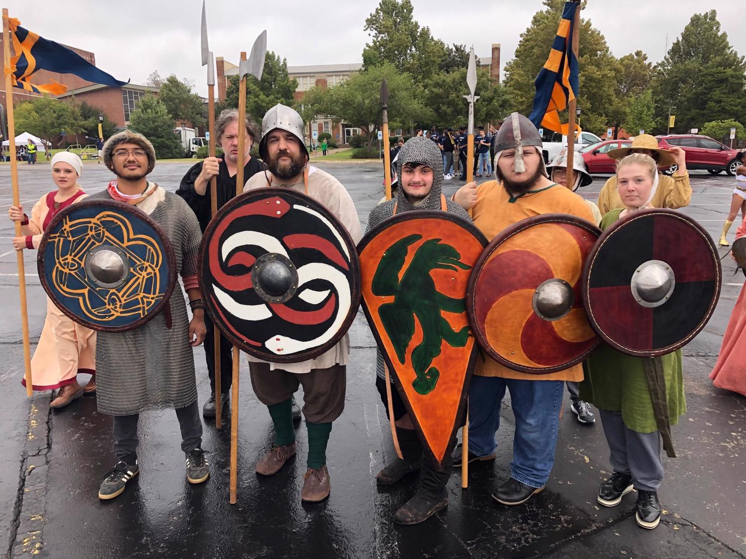 Photo of group of UCO Medieval Society students, Fall 2019