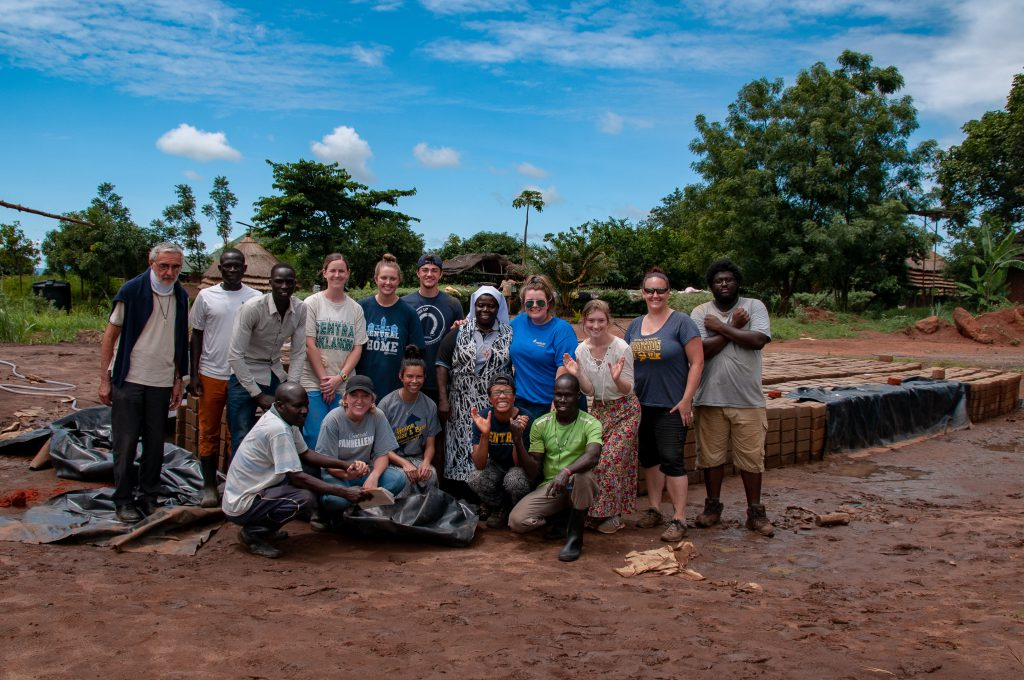 Photo of students and staff in Uganda