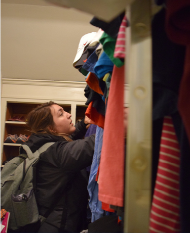 Photo of Ally in the UCO Community Closet