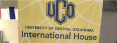 UCO International House banner: Go Global...Live Local. Glocal!