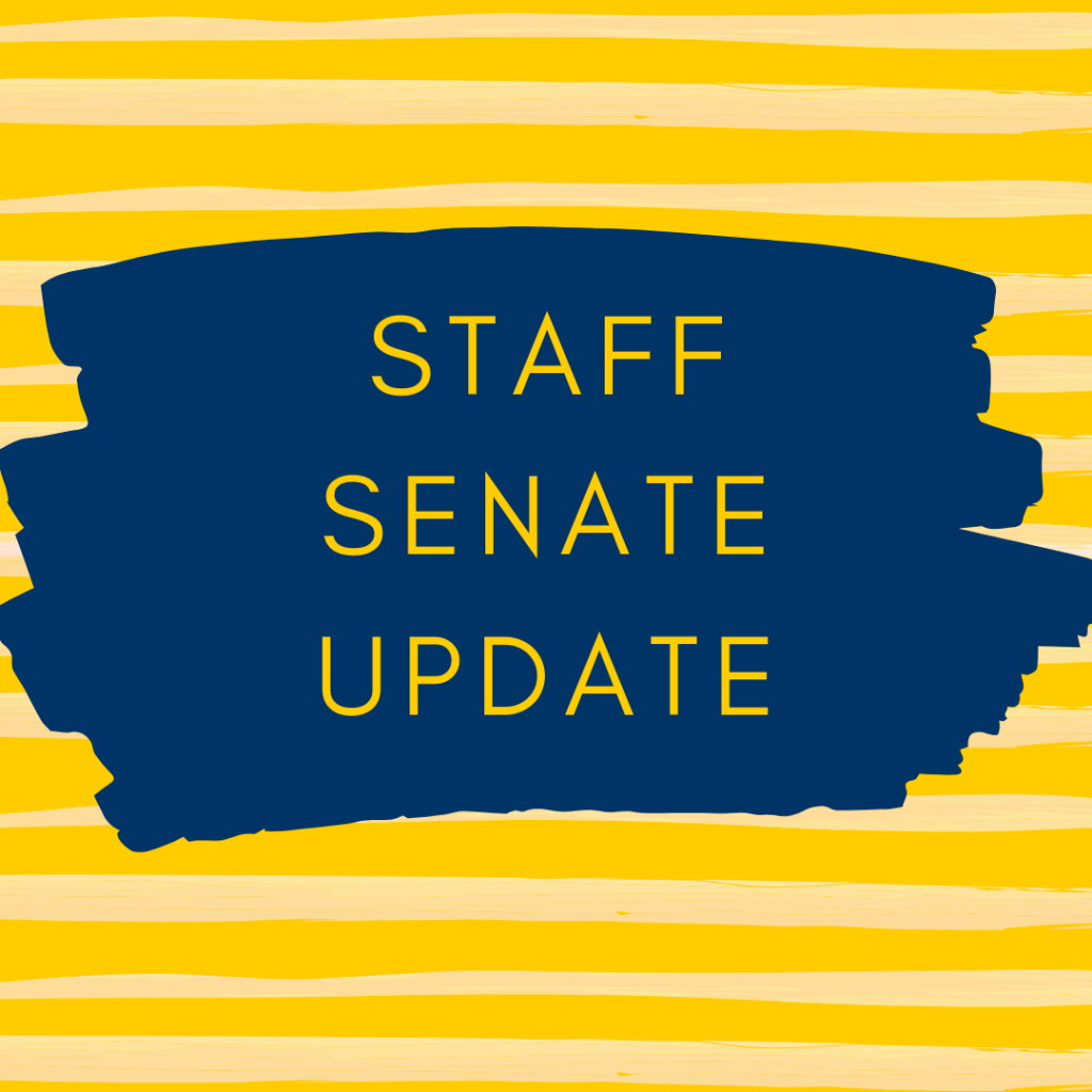 Staff Senate Update word graphic