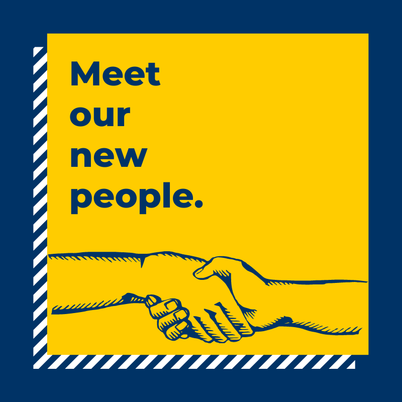 """""""meet our new people"""" graphic"""