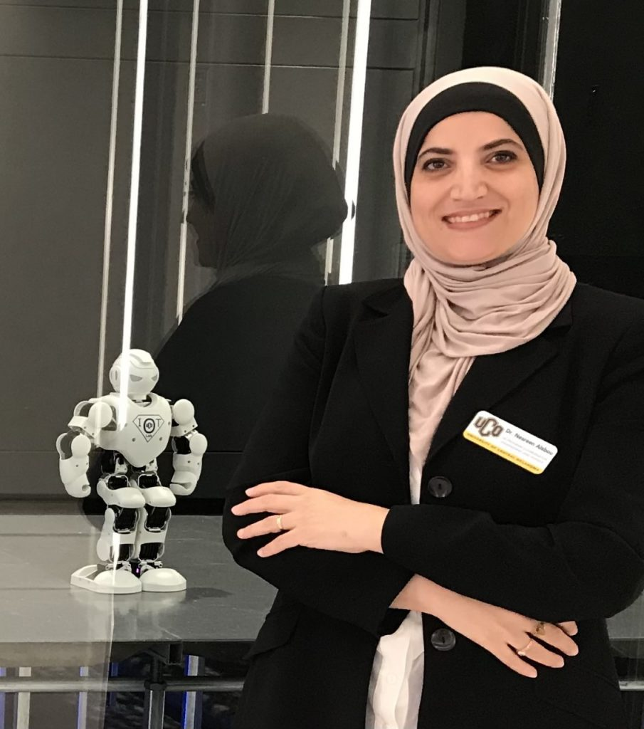 picture of woman with robot
