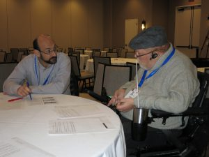 Photo of Mark Maddy at a TL Conference 2017 roundtable discussion