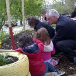 Photo of kids celebrated Earth Day 2013 in a garden