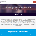 Screenshot of the Oklahoma Learning Innovations Summit homepage