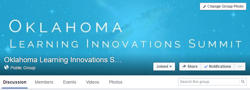 Screenshot of OK Learning Innovations Summit facebook page