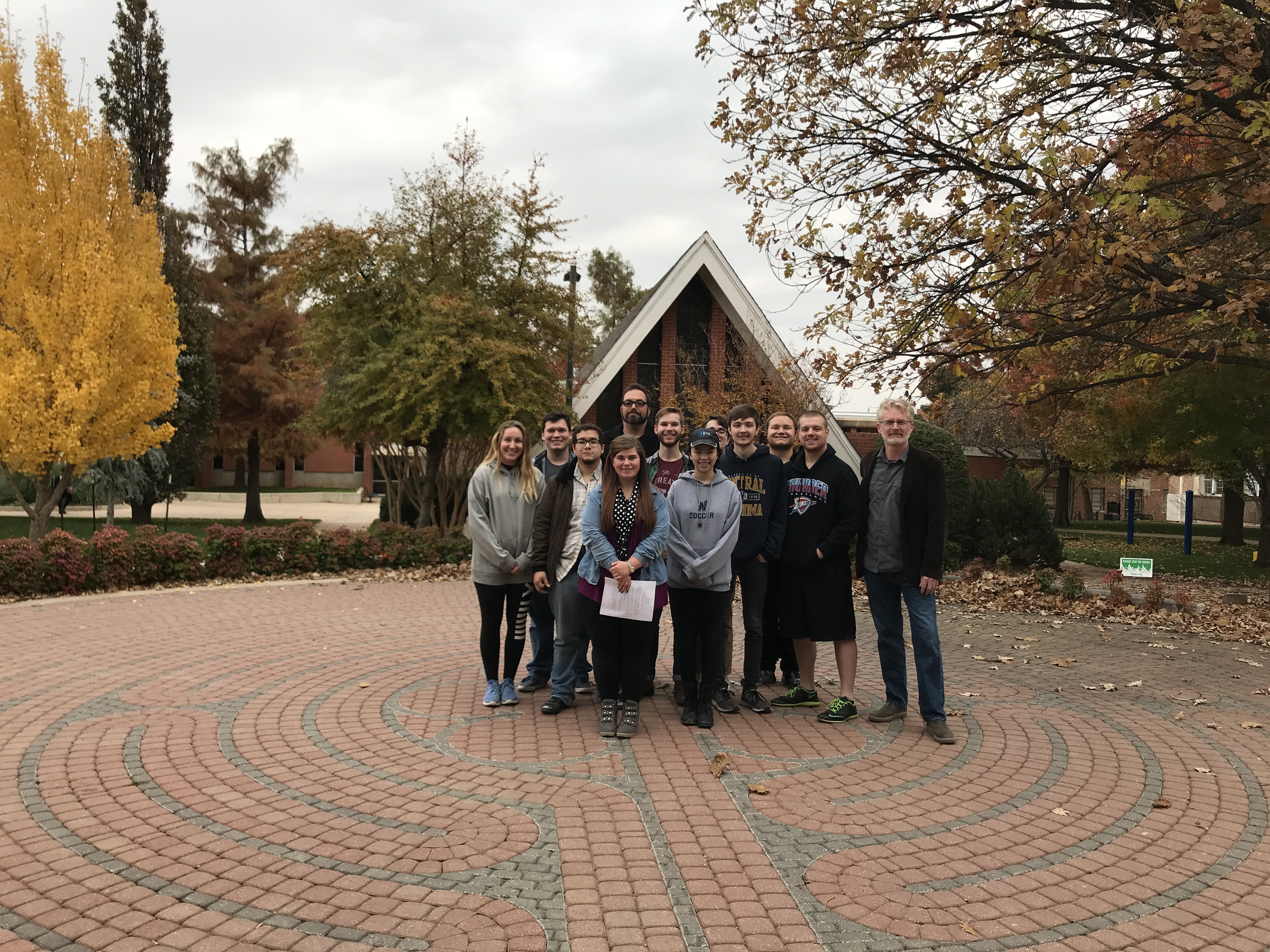 Faculty at the UCO Labyrinth
