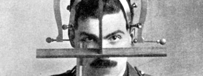 Public domain image of a head measurer for anthropologists, 1923