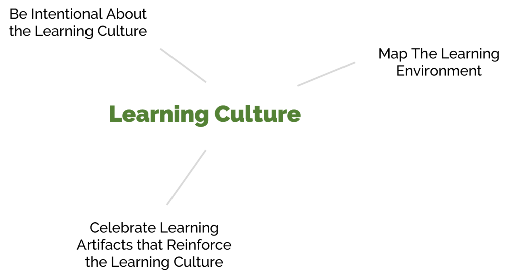 Diagram of 3 ways to grow a learning culture