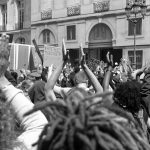 Black Lives Matter protesters gathered in Paris on June 6th, 2020