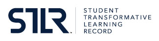 Horizontal logo graphic of Student Transformative Learning Record