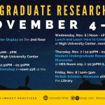Schedule of Events for Undergraduate Research Week